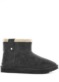 Ботинки угги зимние резиновые Black Ankle Boot Cheyenne AJS-Blackfox фото