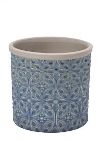 Кашпо керамическое, M  Porto Blue Indoor Pots Collection Burgon & Ball