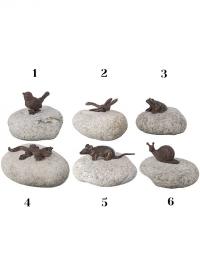 Садовые декоративные фигурки животных на камнях Esschert Design TT153 фото