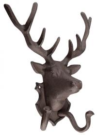 Крючок двойной настенный «Голова оленя» Esschert Design