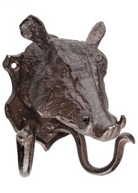 Крючок двойной настенный «Голова кабана» Esschert Design