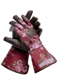Перчатки кожаные зимние для садоводов GardenGirl Classic Cherry WWG22 фото