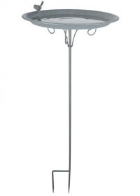 Садовая металлическая поилка для птиц Grey Metal Esschert Design