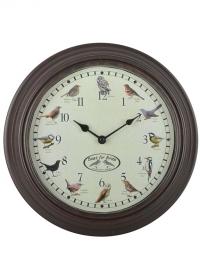 Часы настенные с птицами Clockbird sounds Esschert Design фото