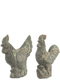 Садовая декоративная фигурка Петушок Курица Aged Ceramic AC164 Esschert Design фото