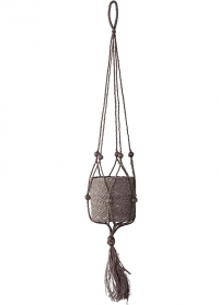 Подвесное кашпо для комнатных цветов плетеное из джута Munesia Grey Lene Bjerre фото