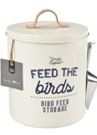 Контейнер эмалированый для хранения птичьего корма Burgon & Ball фото