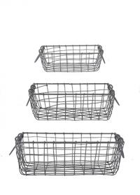 Набор декоративных корзин из металлической сетки WB32 Esschert Design фото.jpg