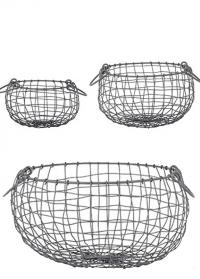 Набор декоративных корзин из сетки WB35 Esschert Design фото.jpg