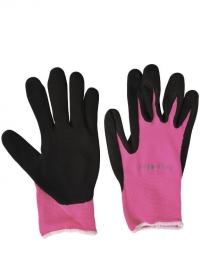 Перчатки для флориста флуорсцентные Florabrite Pink Burgon & Ball фото.jpg