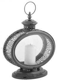 Свечной фонарь овальный WL62 Grey Esschert Design фото.jpg