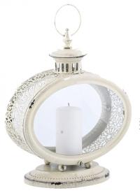 Свечной фонарь овальный WL62 White Esschert Design фото.jpg