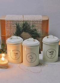 Подарочный набор банок для чая и кофе Esschert Design фото.jpg