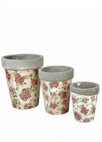 Кашпо керамические - набор из 3-х штук Rose Esschert Design