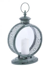 Красивый свечной фонарь в винтажном стиле Grey Esschert Design фото.jpg