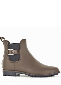Ботинки челси резиновые женские Brown Delia Blackfox фото.jpg