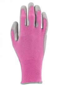 Перчатки садовые обливные с нитрилом Colors Rose AJS Blackfox фото