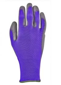 Перчатки садовые с нитрилом Violet Colors Blackfox фото
