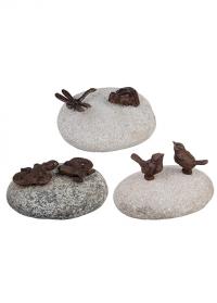 Садовые чугунные фигурки животных на камне Esschert Design TT169 фото