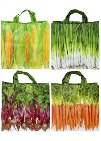 Сумка хозяйственная для покупок пластиковые Vegetables Collection TP276 Esschert Design фото.jpg
