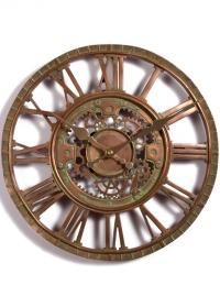Часы настенные скелетоны Newby Bronze by Outside In фото