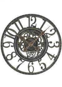 Часы настенные скелетоны Newby Verdigris by Outside In фото
