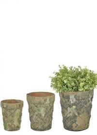 Набор состаренных керамических горшков для цветов AC160 Esschert Design фото