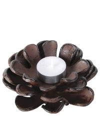 Подсвечник чугунный Шишка для чайной свечи XM60 Esschert Design фото