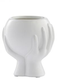 Дизайнерское кашпо для цветов 16.5 см HANIYA White Lene Bjerre фото