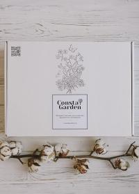 Подарочная крафт коробка белая большая Consta Garden фото