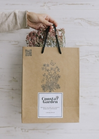 Подарочный крафт пакет Consta Garden размер S фото