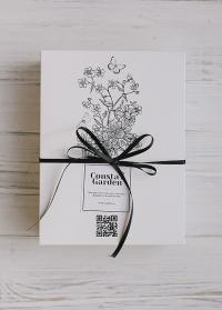 Подарочная коробка картонная белая Consta Garden фото