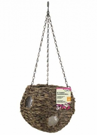 Кашпо подвесное цветочный шар Tawny Faux Rattan Ball Smart Garden фото