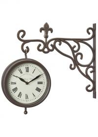 Часы на кронштейне двусторонние Marylebone Station Smart Garden фото