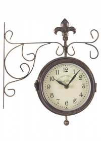 Часы на кронштейне двусторонние York Station Smart Garden фото