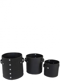 Кашпо для цветов ручной работы из переработанной резины - набор 3 шт. WB42 Esschert Design фото