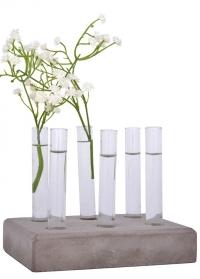 Декоративная подставка со стеклянными пробирками для цветов AGG36 Esschert Design фото