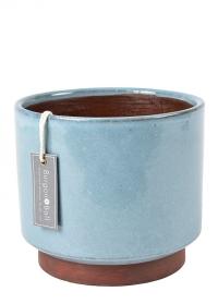 Керамический горшок для комнатных растений Malibu Blue Burgon & Ball фото