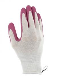 Перчатки садовые из бамбукового волокна с латексом Bamboo Pink AJS-Blackfox