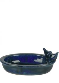Купальня для птиц керамическая овальная Blue FB404 Esschert Design фото