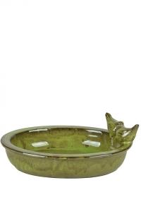 Купальня для птиц керамическая овальная Green FB404 Esschert Design фото
