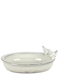 Купальня для птиц керамическая овальная White FB404 Esschert Design фото