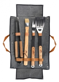 Набор инструментов для барбекю в чехле-сумке Denim GT196 Esschert Design фото