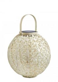 Декоративный фонарь на солнечной батарее Damasque Cream Smart Garden фото