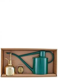 Подарочный набор лейка и опрыскиватель HAWS Green Rowley Ripple & Brass фото
