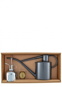 Подарочный набор лейка и опрыскиватель HAWS Rowley Ripple Graphite & Nickel фото