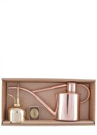 Подарочный набор лейка и опрыскиватель HAWS Copper Rowley Ripple & Brass Smethwick Spritzer фото