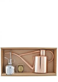 Подарочный набор лейка и опрыскиватель HAWS Copper Rowley Ripple & Nickel Smethwick Spritzer фото