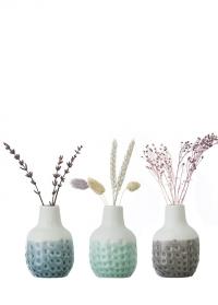 Набор 3-х миниатюрных вазочек Dotty Mini Trio Burgon & Ball фото