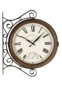 Часы большие на кронштейне двусторонние Greenwich Station Smart Garden фото